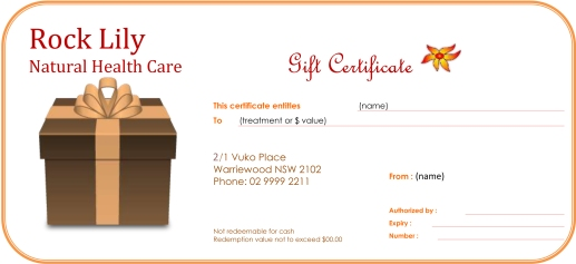 Rock Lily Gift Certificate